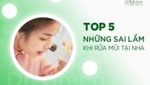 TOP 5 NHỮNG SAI LẦM KHI RỬA MŨI TẠI NHÀ